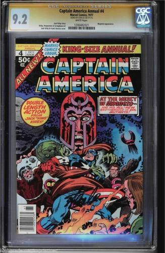 Captain America Annual #4 1977 Cgc 9.2 White Stan Lee Ss Magneto App #1206482021
