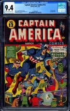 Captain America Comics #12 Cgc 9.4 Highest Cgc Graded 1 Of 2 Cgc #1478665005