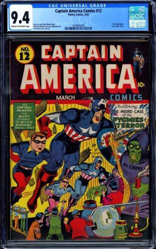 Captain America Comics #12 Cgc 9.4 Highest Cgc Graded 1 Of 2 Cgc #1478665005