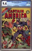 Captain America Comics #13 Cgc 9.4 Single Highest Graded Cgc #1557740004