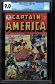 Captain America Comics #40 Cgc 9.0 Golden Age Single Highest Graded! #1210801003