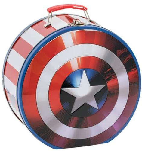 Captain America Shield Shaped Tin Tote