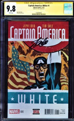 Captain America:white #1 Cgc 9.8 Ss Stan Lee Variant Edition Cgc #1508494001