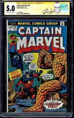 Captain Marvel #26 Cgc 5.0 Oww Ss Stan Lee 1st Thanos Cover Cgc #1227699009