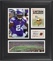 Captain Munnerlyn Minnesota Vikings Framed 15'' x 17'' Collage with Game-Used Football