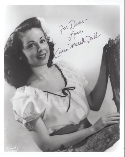 CAREN MARSH DOLL HAND SIGNED 8x10 PHOTO+COA        WIZARD OF OZ        TO DAVE