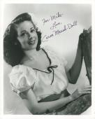 CAREN MARSH-DOLL HAND SIGNED 8x10 PHOTO+COA      WIZARD OF OZ           TO MIKE