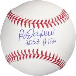 Rod Carew Minnesota Twins Autographed Baseball With 3053 Hits Inscription