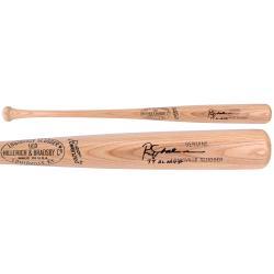Rod Carew Minnesota Twins Autographed Blonde Louisville Slugger with 77 MVP Inscription