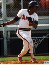 Rod Carew California Angels Autographed 8'' x 10'' Silver Ink Photograph - Mounted Memories