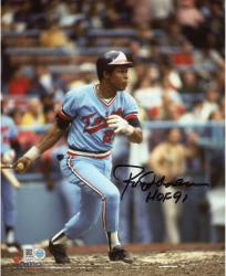 Autographed Rod Carew Minnesota Twins 8x10 Photo - HOF 91