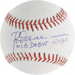 Rod Carew Minnesota Twins Autographed Baseball with MLB Debut 4/11/67 Inscription