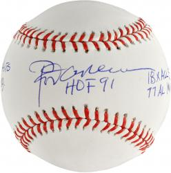 Rod Carew Minnesota Twins Autographed Baseball with Multiple Inscription - Mounted Memories