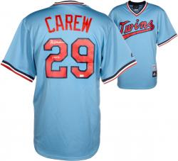 Rod Carew Minnesota Twins Autographed Majestic Cooperstown Jersey