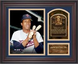 "Rod Carew Baseball Hall of Fame Framed 15"" x 17"" Collage with Facsimile Signature"