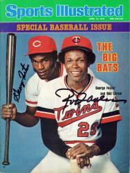 Rod Carew Minnesota Twins & George Foster Cincinnati Reds Autographed Big Bats Sports Illustrated Magazine