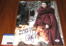 Carice van Houten Signed 11x14 Melisandre Game of Thrones w/Quote PSA/DNA