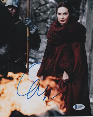 Carice Van Houten Signed 8x10 Photo Game Of Thrones Beckett Bas Autograph Auto A