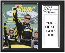 "Carl Edwards 2013 Subway Fresh Fit 500 Sublimated 12"" x 15"" I Was There Plaque"