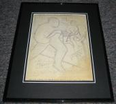 Carl Pfeufer 1942 Human Torch #8 Framed Sketch Official Reproduction