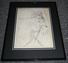 Carl Pfeufer 1942 Human Torch Blitz Framed Sketch Official Reproduction