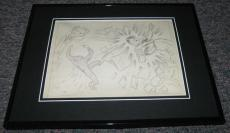 Carl Pfeufer 1942 Human Torch Framed Sketch Official Reproduction