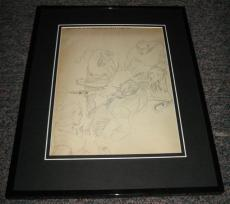 Carl Pfeufer 1942 Sub Mariner #6 P.21 Framed Sketch Official Reproduction