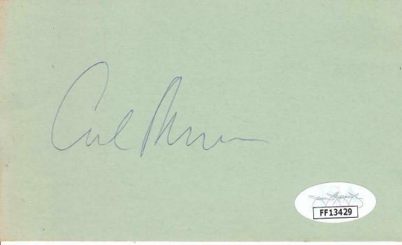 CARL REINER Signed 3x5 Index Card Actor/Writer/Dick Van Dyke Show JSA FF13429