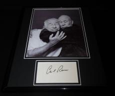 Carl Reiner Signed Framed 11x14 Photo Poster Display w/ Mel Brooks