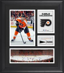 """Carlo Colaiacovo Philadelphia Flyers Framed 15"""" x 17"""" Collage with Piece of Game-Used Puck"""