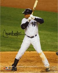 "Carlos Beltran New York Yankees Autographed 8"" x 10"" Hitting in Pinstripes Photo"