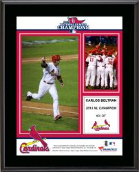 "Carlos Beltran St. Louis Cardinals 2013 National League Champions Sublimated 10.5"" x 13"" Plaque"