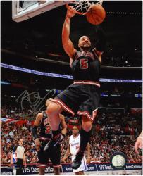"Carlos Boozer Chicago Bulls Autographed 8"" x 10"" Photograph - Black"