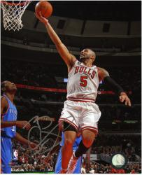 "Chicago Bulls Carlos Boozer Autographed 8"" x 10"" Photo"