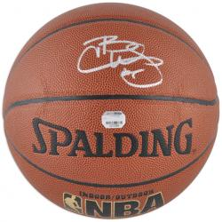 Spalding Carlos Boozer Chicago Bulls Autographed Indoor/Outdoor Basketball - Mounted Memories
