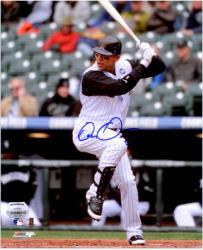 "Carlos Gonzalez Colorado Rockies Autographed 8"" x 10"" Batting Photograph  - Mounted Memories"