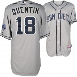 Carlos Quentin San Diego Padres Player Worn Grey Jersey from 6/12/14 vs Philadelphia Phillies