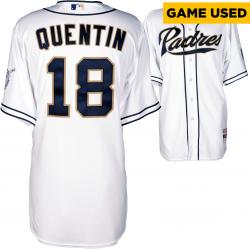 Carlos Quentin San Diego Padres Player Worn White Jersey from 4/2/14 vs Los Angeles Dodgers