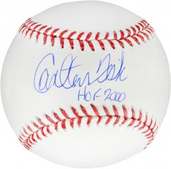Carlton Fisk Boston Red Sox Autographed Baseball with ''HOF 2000'' Inscription - Mounted Memories