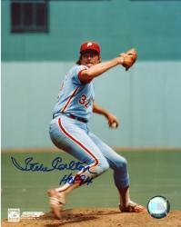 Steve Carlton Autographed Phillies 8x10 Photo
