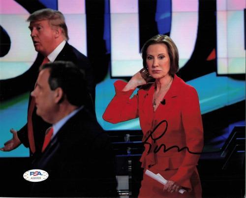 Carly Fiorina signed 8x10 Photo PSA/DNA Autographed Donald Trump