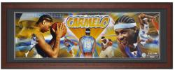 Denver Nuggets Carmelo Anthony Unsigned Framed Panoramic Photo - Mounted Memories