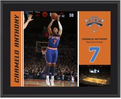 New York Knicks Carmelo Anthony 10'' x 13'' Sublimated Plaque - Mounted Memories