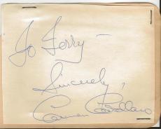 Carmen Cavallaro Signed Vintage Album Page