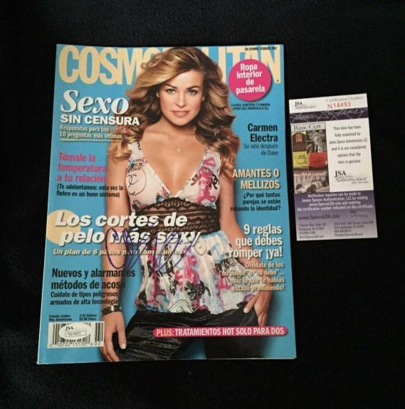 Carmen Electra Signed Cosmopolitan Magazine JSA Authenticated