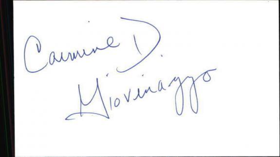 """CARMINE D GIOVINAZZO CSI NY Signed 3""""x5"""" Index Card"""