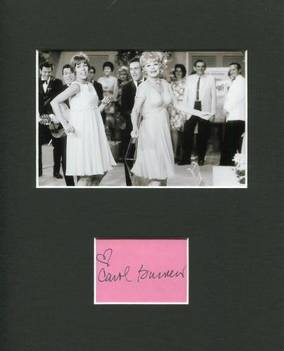 Carol Burnett Famous Comedian Signed Autograph Photo Display With Lucille Ball