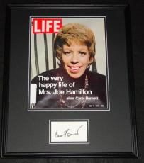 Carol Burnett Signed Framed ORIGINAL 1971 Life Magazine Cover 16x20 Display