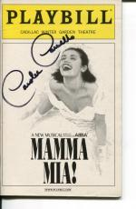 Carolee Carmello Mamma Mia Broadway Musical Play Signed Autograph Playbill