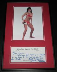 Caroline Munro SEXY Signed Framed 11x17 Note & Photo Display James Bond Girl
